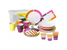 SET PIATTI IN MELAMINA 36 PEZZI ALL INCLUSIVE FLAME