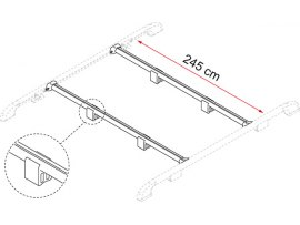 BARRA PORTA TUTTO FIXING BAR RAIL FIAMMA