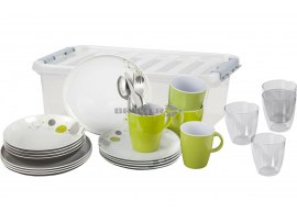 SET PIATTI BRUNNER IN MELAMINA 36 PEZZI ALL INCLUSIVE SPACE