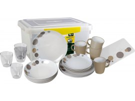 SET PIATTI MELAMINA ALL INCLUSIVE PEPITA BRUNNER