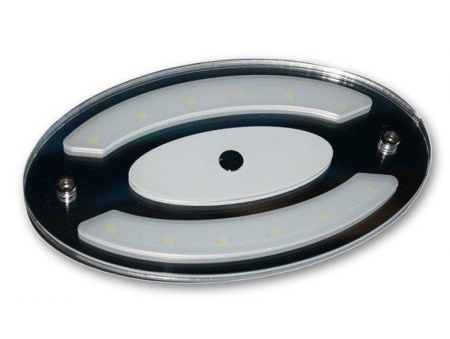 Plafoniera Led Camper : Plafoniera a led touch ovale