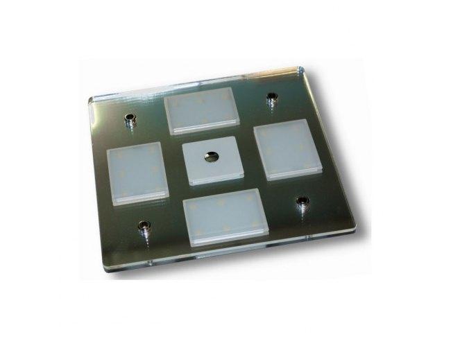 Plafoniere A Led 12v Per Camper : Plafoniera a led touch quadrata